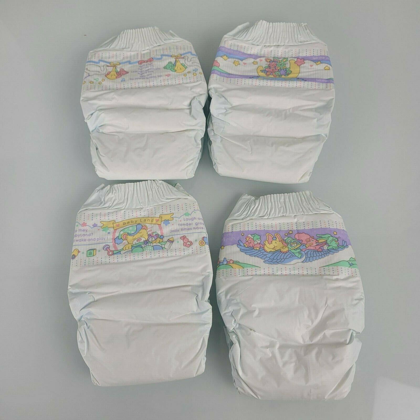 Vintage Huggies Baby Steps Size 1 1991 Plastic Diapers set o