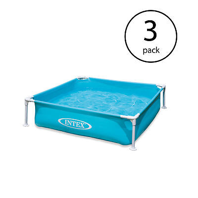 "Intex Mini Chassis Kids 48"" x 48"" x 12"" Beginner Kiddie Swimming Pool (3 Accumulation)"