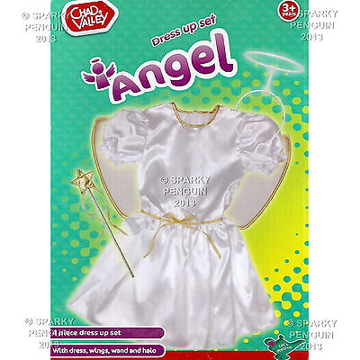 Preschool Dress Up Clothes (CHAD VALLEY ANGEL FAIRY DRESS UP COSTUME SET DRESS, WINGS HALO & WAND PRE)