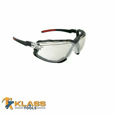 KlassTools Series 8500 Safety Glasses with Clear Lens & Foam Lined Gasket