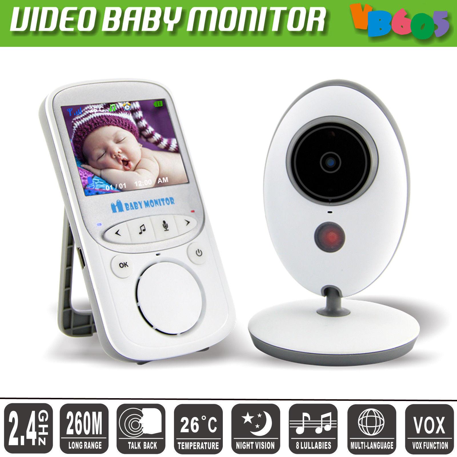 Baby Video Audio Monitor Drahtlos Babyphone mit Kamera Nachtlicht Babyviewer Neu