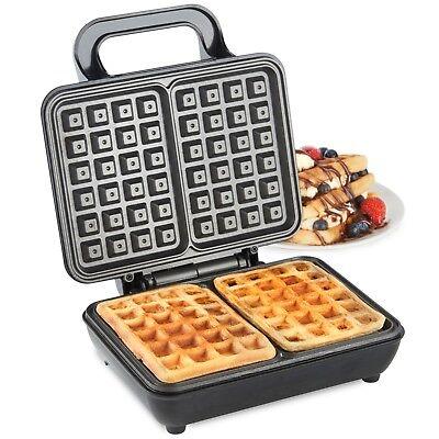 VonShef Belgian Waffle Maker Iron Machine 2 Slice Automatic Temp Control 1000W