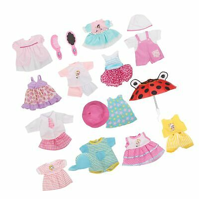 Set of 12 Baby Doll Clothes Dress Outfits Costumes For 14-16