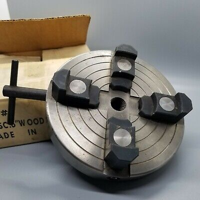 4 Jaws X 6 Inches Wood Lathe Independent Chuck Threaded 34 X16 Reversible Jaws