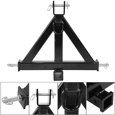 3 Point 2 Receiver Trailer Tow Hitch Category 1 Attachment Tractor Heavy Duty