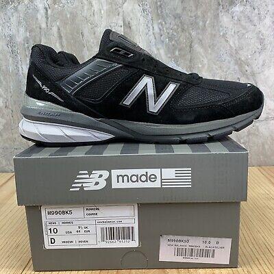 New Balance M990BK5 990 V5 Size 10 Mens Black Silver Running Shoes