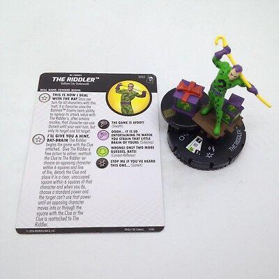 Heroclix Joker/'s Wild set The Riddler #051 Super Rare figure w//card!