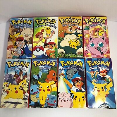 Vintage Lot of 8 Pokemon VHS Tapes Red Box Originals Anime TV Show