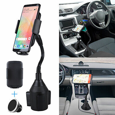 Magnet Mobile Cell Phone Mount For Car Cup Holder Magnetic T