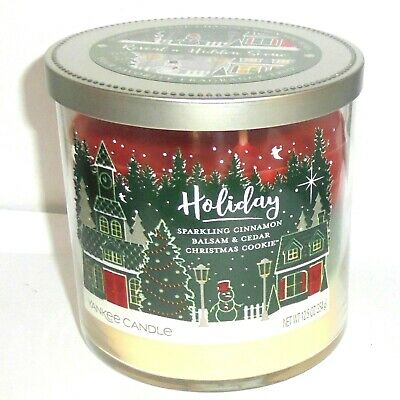 Yankee Candle HOLIDAY Trio 12.5 oz 2 Wicks 3 Fragrances Candle ~ FREE SHIP