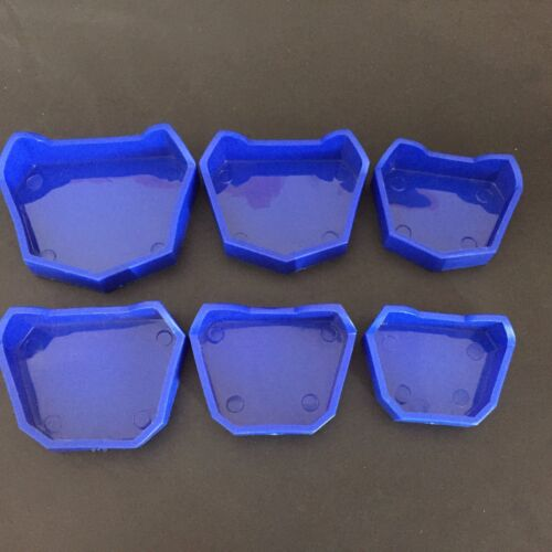 6pcs/set Dental Lab Plaster Model Base Former Molds Tray Dentist Tool Blue