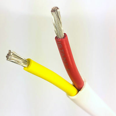 14/2 AWG Gauge Marine Grade Wire Boat Cable Tinned Copper Flat Red/Yellow