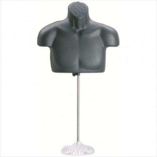 New!! Male Torso Mannequin Form - Black w/ Acrylic Base