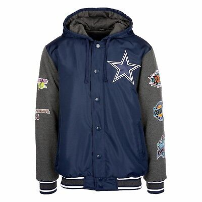 Dallas Cowboys 5 Time Super Bowl Champions Top Brass Varsity Jacket