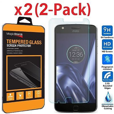 2-Multitude Premium Tempered Glass Screen Protector Saver For Motorola Moto Z Play