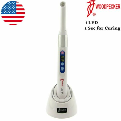 100% Woodpecker Dental Wireless Curing Light Lamp iLED 1 second Curing 2500mw/c㎡