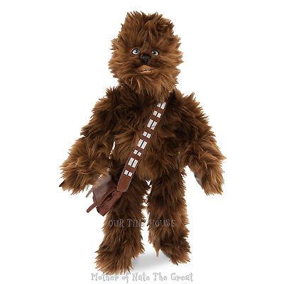 "Disney Authentic Star Wars Chewbacca Chewie Big Plush Toy Doll 19"" Tall New"