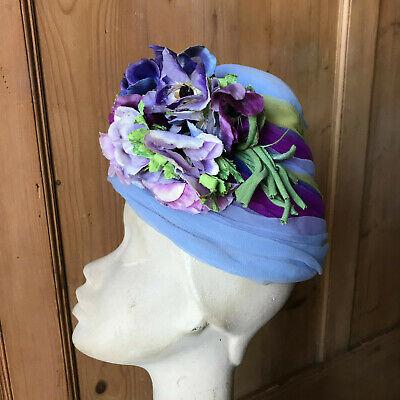 Vintage Bucket Hat Hat Vintage Cloche Beehive Turban 1950 60s