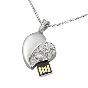 Heart Jewelry Model 16GB USB 2.0 Flash Drive Flash Memory Stick Thumb Pen Drive