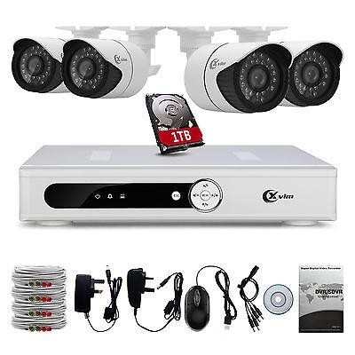 XVIM 8CH HDMI DVR 720P 1500TVL Outdoor IR Home CCTV Security Camera System 1TB