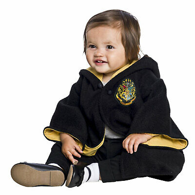 Newborn Baby Harry Potter Hogwarts Student Crest Halloween Costume Hooded Robe