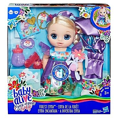 Baby Alive Once Upon a Baby: Forest Tales Forest Emma (Blonde Straight Hair) for sale  Pottstown