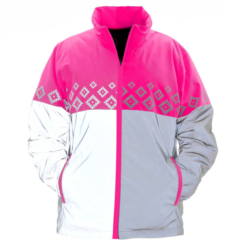 Equisafety Luminosa Reversible Safety Wear Reflective Jacket - Pink All Sizes