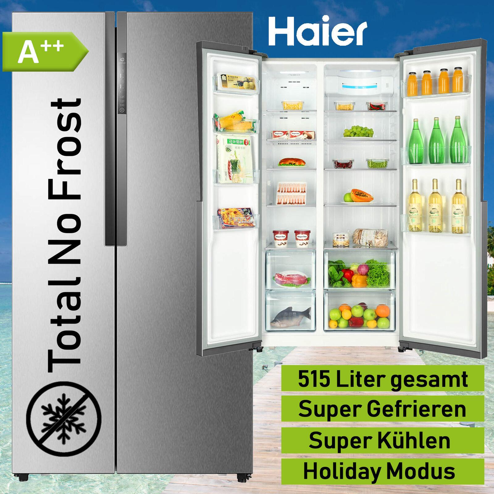 Kühl Gefrierkombination A++ Side by Side Total No Frost Kühlschrank Kombi Haier