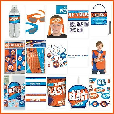 NERF Birthday Party Decorations Wall Backdrop Cutouts Vest Party Favors - Orange Party Decorations