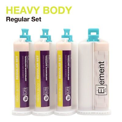 Element Heavy Body Vps Pvs Dental Impression Material Regular Set 50ml Cartridge