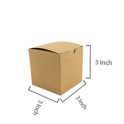 Square Brown Kraft Paper Boxes Gift Box Wedding Candy Party Favor 10pc 50pc (Brown Candy)