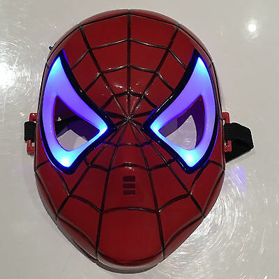 NEW SPIDERMAN Light Up LED KIDS Mask Marvel superhero INFINITY WAR uk seller