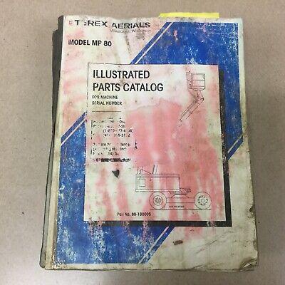 Terex Mp 80 Parts Catalog Manual Book List 80 Boom Man Lift Platform 89-180005