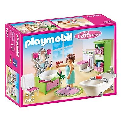 Playmobil Dollhouse Vintage Bathroom Building Set 5307 NEW Toys Kids