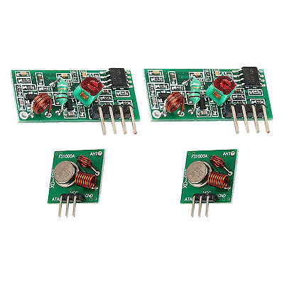2pcs 433mhz Rf Transmitter And Receiver Link Kit For Arduinoarmmcu New