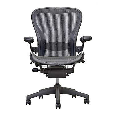 1 Herman Miller Aeron Chair Size C - Fully Loaded With Lumber