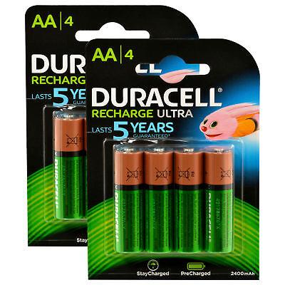 8x Duracell Recharge Ultra Akku AA Mignon HR06 2.500 mAh Precharged 8 Stück