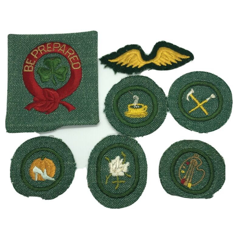 1940's 1950's Girl Scout Merit BADGE Patch Lot