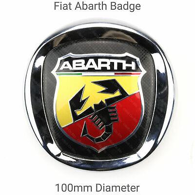 POWERED BY ABARTH 3D Badge Logo Boot Side Emblem Fiat 500 595 695 Punto Panda