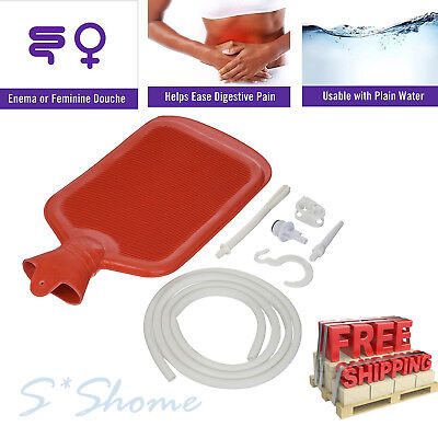 Classic Medical Hot/Cold Water Bottle Home Enema Douche Kit Reusable Water Bag