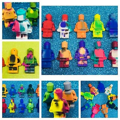 Lego Themed Crayons 10 Party Bag Fillers Wedding Favours *BUY 1 SET GET 1 FREE!* (Lego Themed Party)