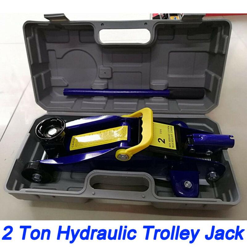 2 Ton Portable Floor Jack Vehicle Car Garage Auto Small Hydraulic Lift W/ Case