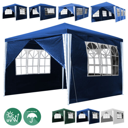 Pavillon Bierzelt Festzelt Messestand 3x3-3x9m Partyzelt Camping Wasserfest