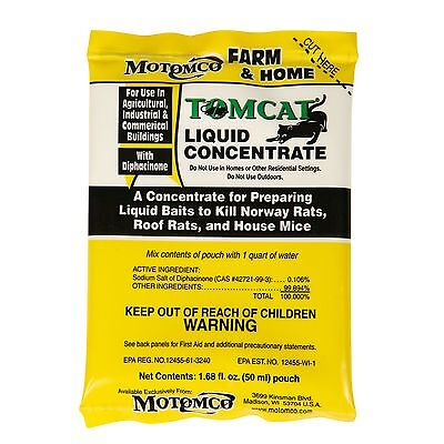 Motomco Tomcat liquid Rat and Mouse killer/poison 8 pack box