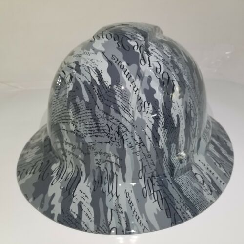 Hard Hat custom hydro dipped OSHA approved FULL BRIM,MILITARY CAMO WE THE PEOPLE 3