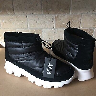UGG CENTARA WATERPROOF BLACK QUILTED SNOW SNEAKER SHOE ANKLE BOOTS SIZE 11 WOMEN