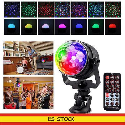 LED RGB Bola Luz de Discoteca Remoto Escenario Fiesta para coche ajustable