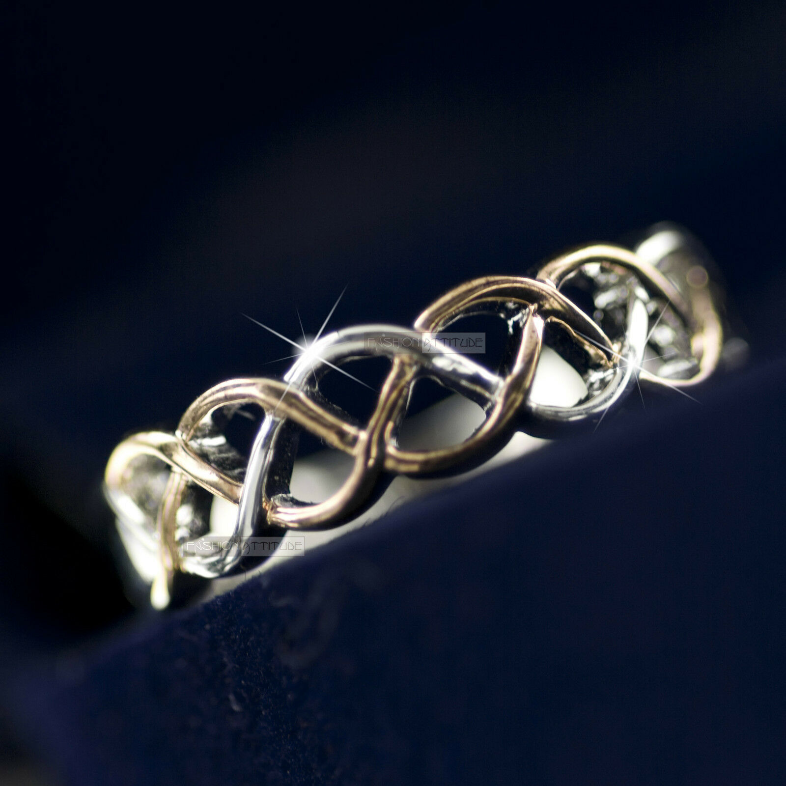 18k White Rose Gold Plated Women S Wedding Dress Filigree Ring Ebay