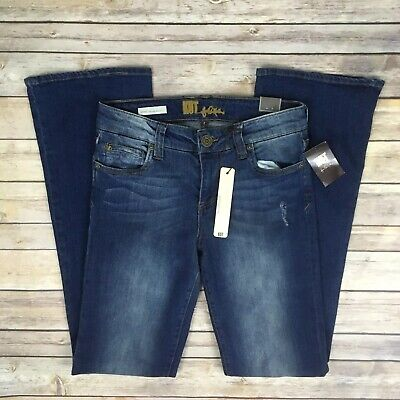 Kut From The Kloth $89 Nicole High Rise Bootcut Jeans Sz 4 Distressed Stretch High Rise Bootcut Jeans