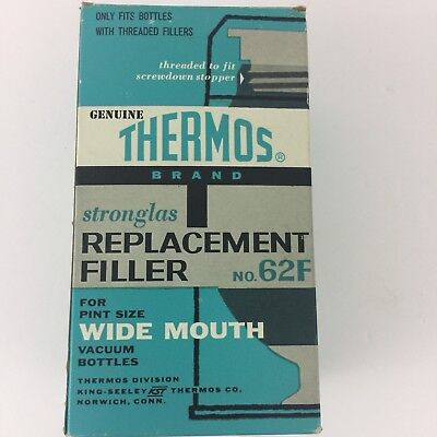 Vintage Genuine THERMOS Stronglas REPLACEMENT FILLER No. 62F for Wide Mouth